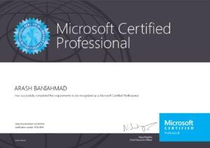 Zertifikat als Microsoft Certified Professional