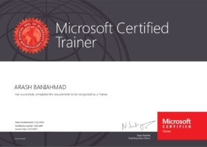 Zertifikat als Microsoft Trainer